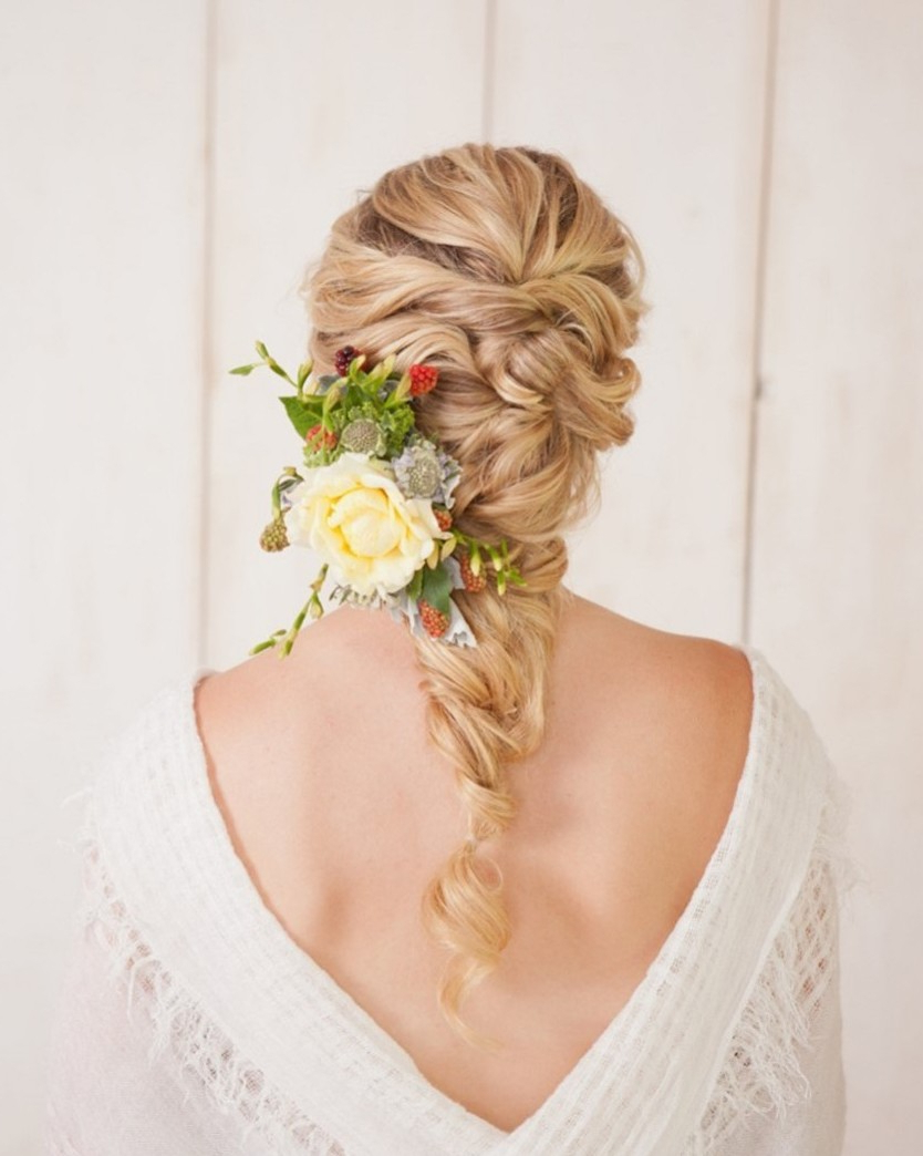Best And Newest Blooming French Braid Prom Hairstyles Pertaining To Diy Fancy French Twist Bridal Updo – Chic Vintage Brides : Chic (View 15 of 20)