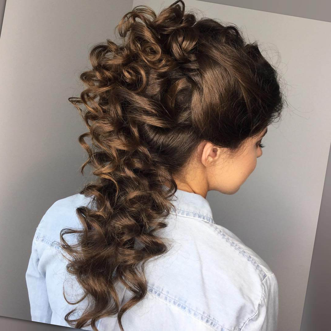 Best And Newest Cascading Curly Crown Braid Hairstyles In 20 Curly Hairstyles For Prom – Get Ready For Your Prom Night (View 5 of 20)