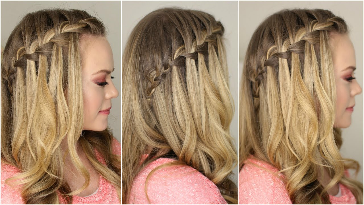 Best And Newest Cascading Curly Crown Braid Hairstyles Throughout How To Do A Waterfall Braid – Youtube (View 7 of 20)