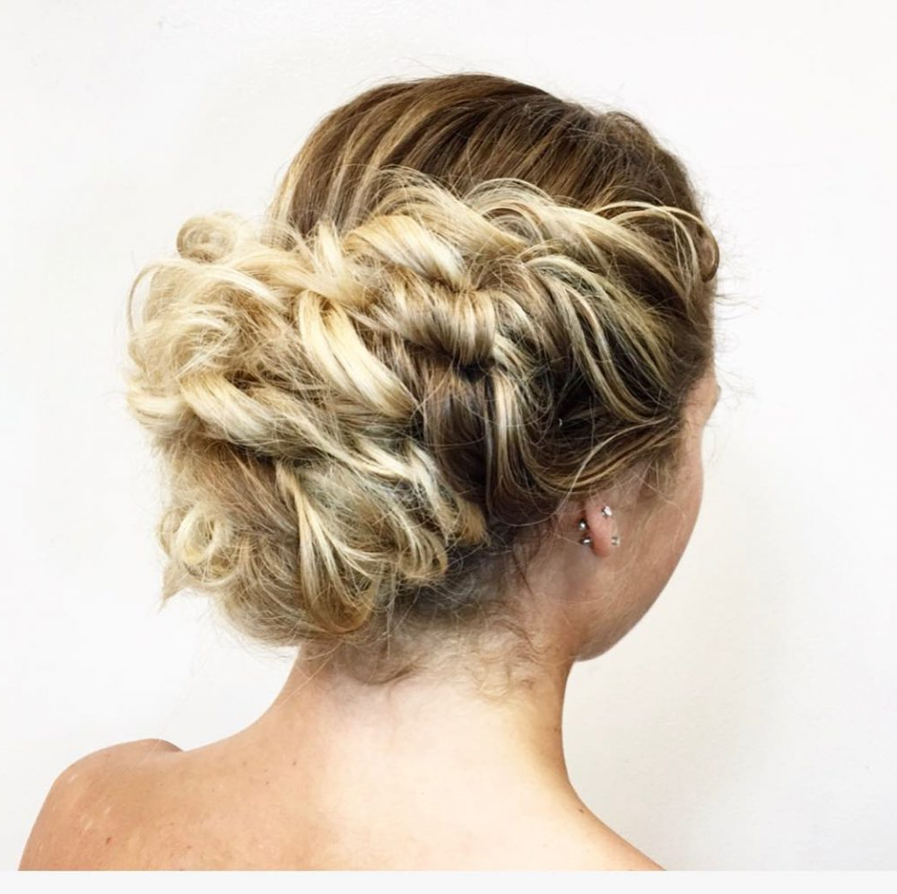 Best And Newest Complex Looking Prom Updos With Variety Of Textures With 34 Cutest Prom Updos For 2019 – Easy Updo Hairstyles (View 6 of 20)