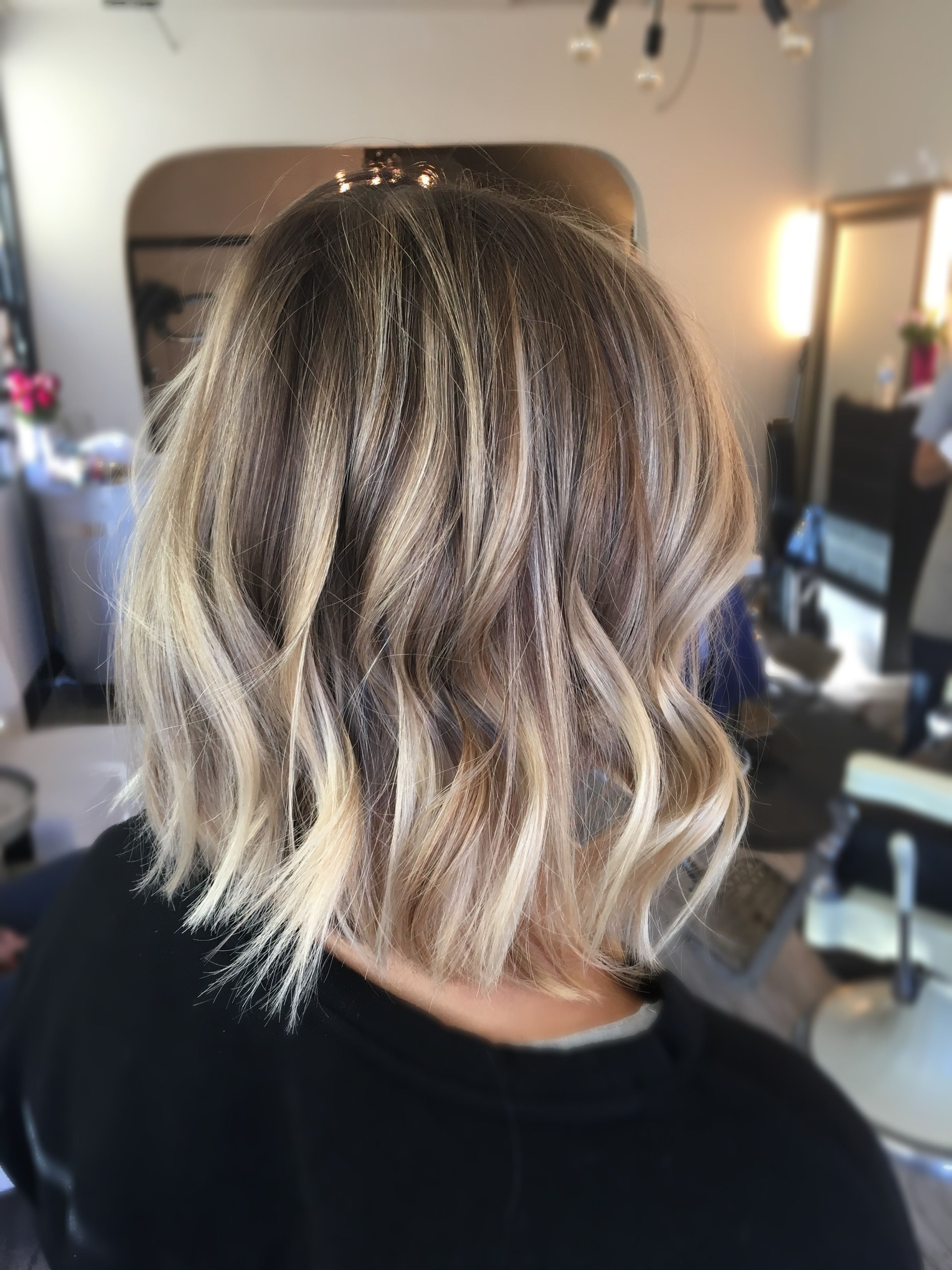 Blonde Dimensional Balayage :) And A Long Bob Razored For Texture With Favorite Choppy Dimensional Layers For Balayage Long Hairstyles (View 2 of 20)