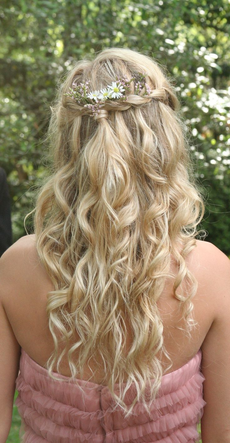 Bohemian Princess Hair– Braided Crown Gathered In The Back With With Most Up To Date Cascading Curly Crown Braid Hairstyles (View 8 of 20)