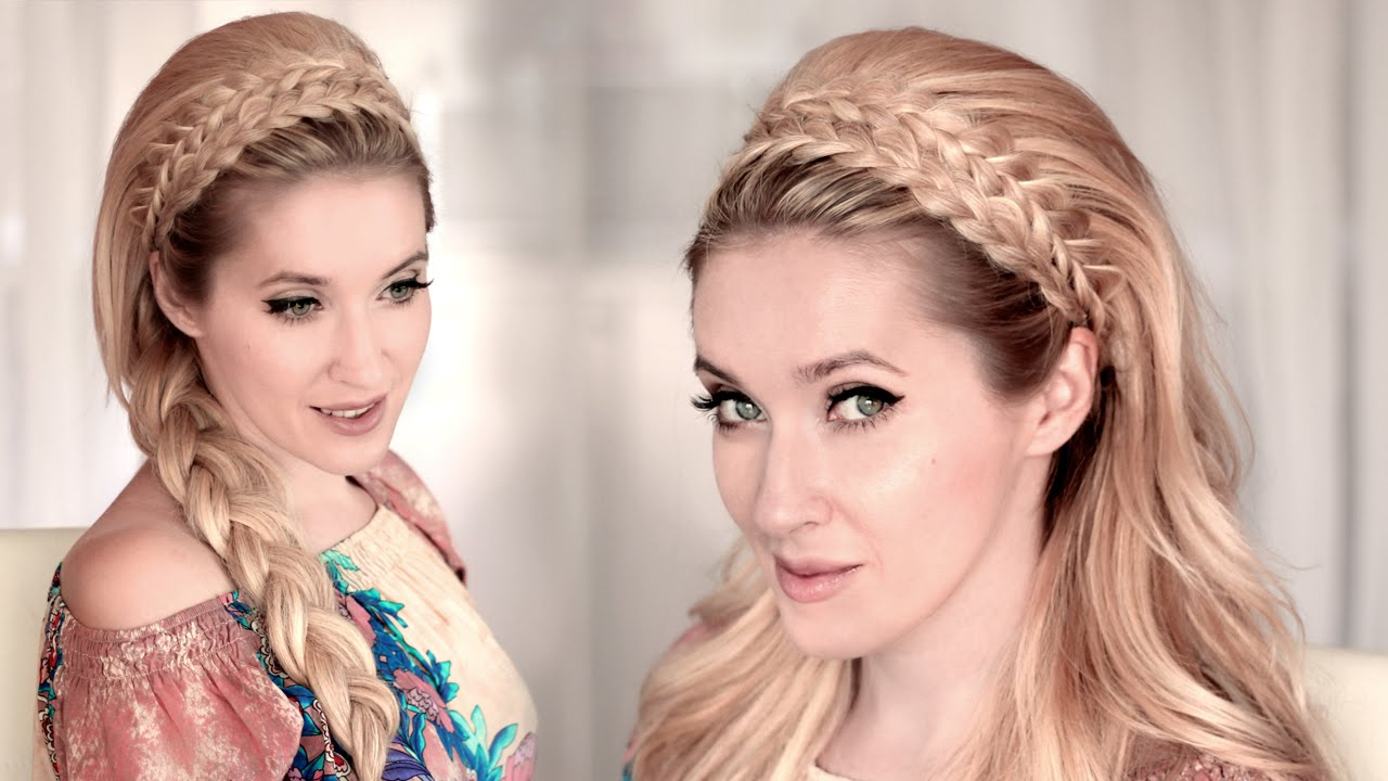 Braided Headband Hairstyle Tutorial For Medium/long Teased Hair ❤ Back To School, Everyday, Wedding In Widely Used Teased Prom Updos With Cute Headband (View 4 of 20)