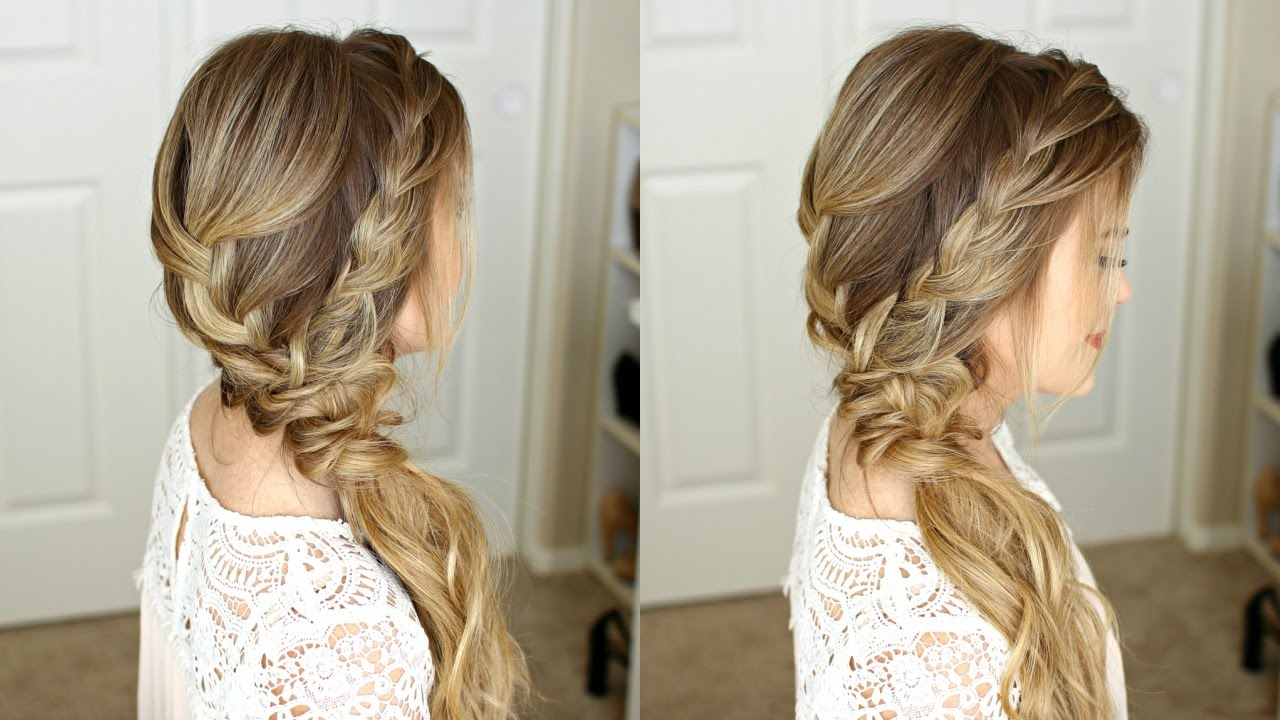 Braided Side Swept Prom Hairstyle (View 15 of 20)