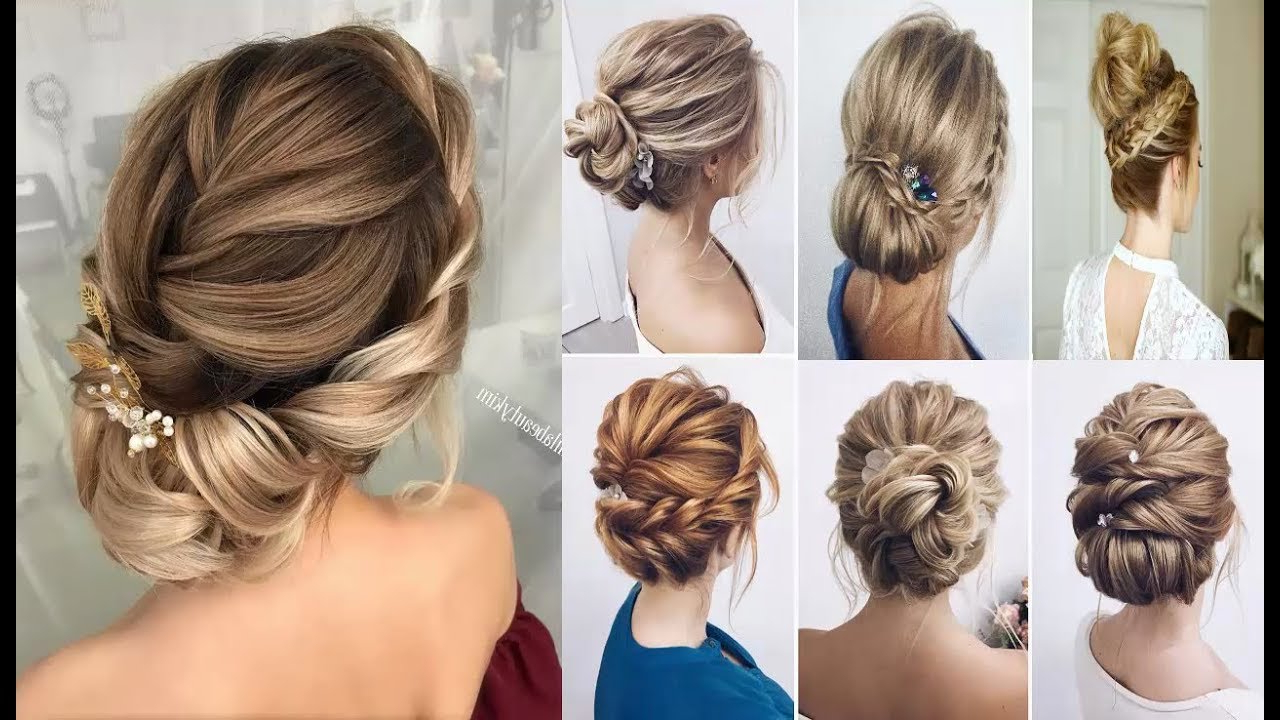 Braided Updo Hairstyles For Medium/long Hair Tutorial ❤ Wedding With Trendy Low Pearled Prom Updos (View 10 of 20)
