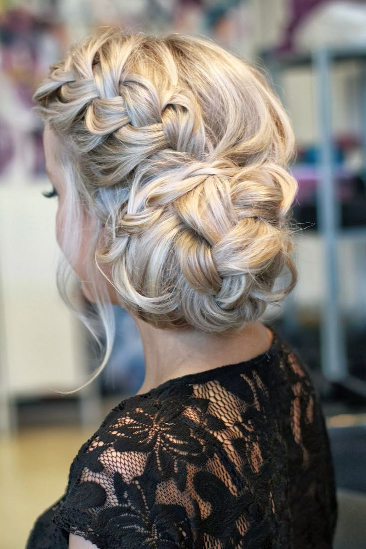 Bridal Hair Braids Pertaining To Favorite Messy Twisted Chignon Prom Hairstyles (View 6 of 20)