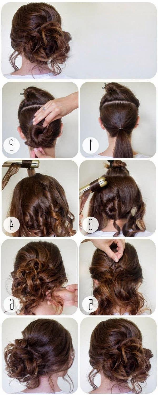 Curly Bun For Straight Hair – Tutorial ~ Calgary, Edmonton, Toronto Inside Latest Big Curly Bun Prom Updos (View 10 of 20)
