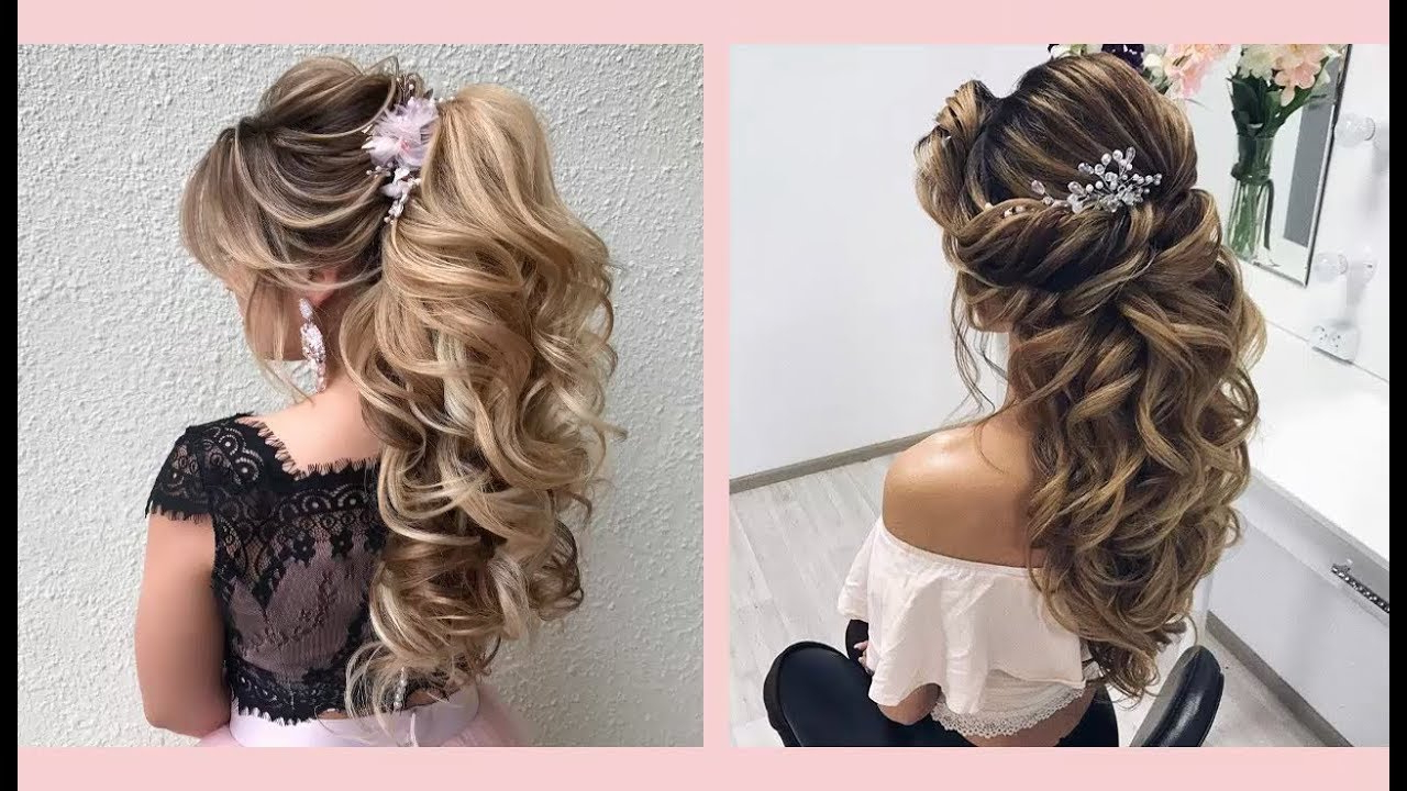 Curly Or Wavy With Regard To Popular Gorgeous Waved Prom Updos For Long Hair (View 7 of 20)