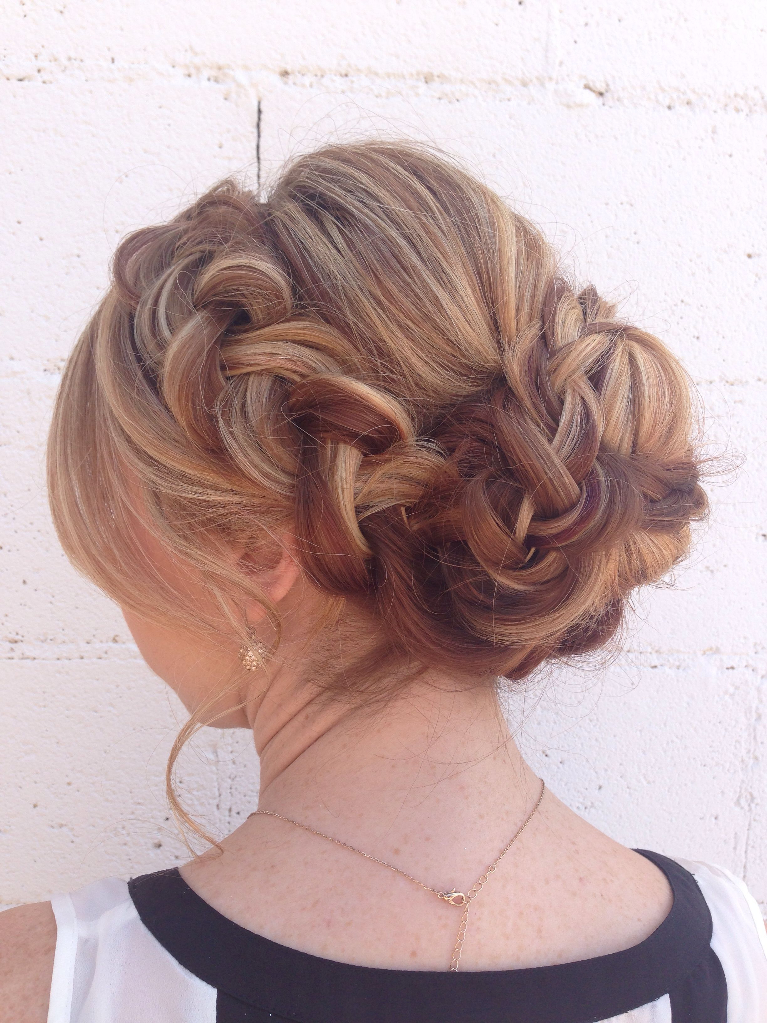Current Classic Prom Updos With Thick Accent Braid In Soft, Braided Updo For Long, Thick Hair (View 5 of 20)