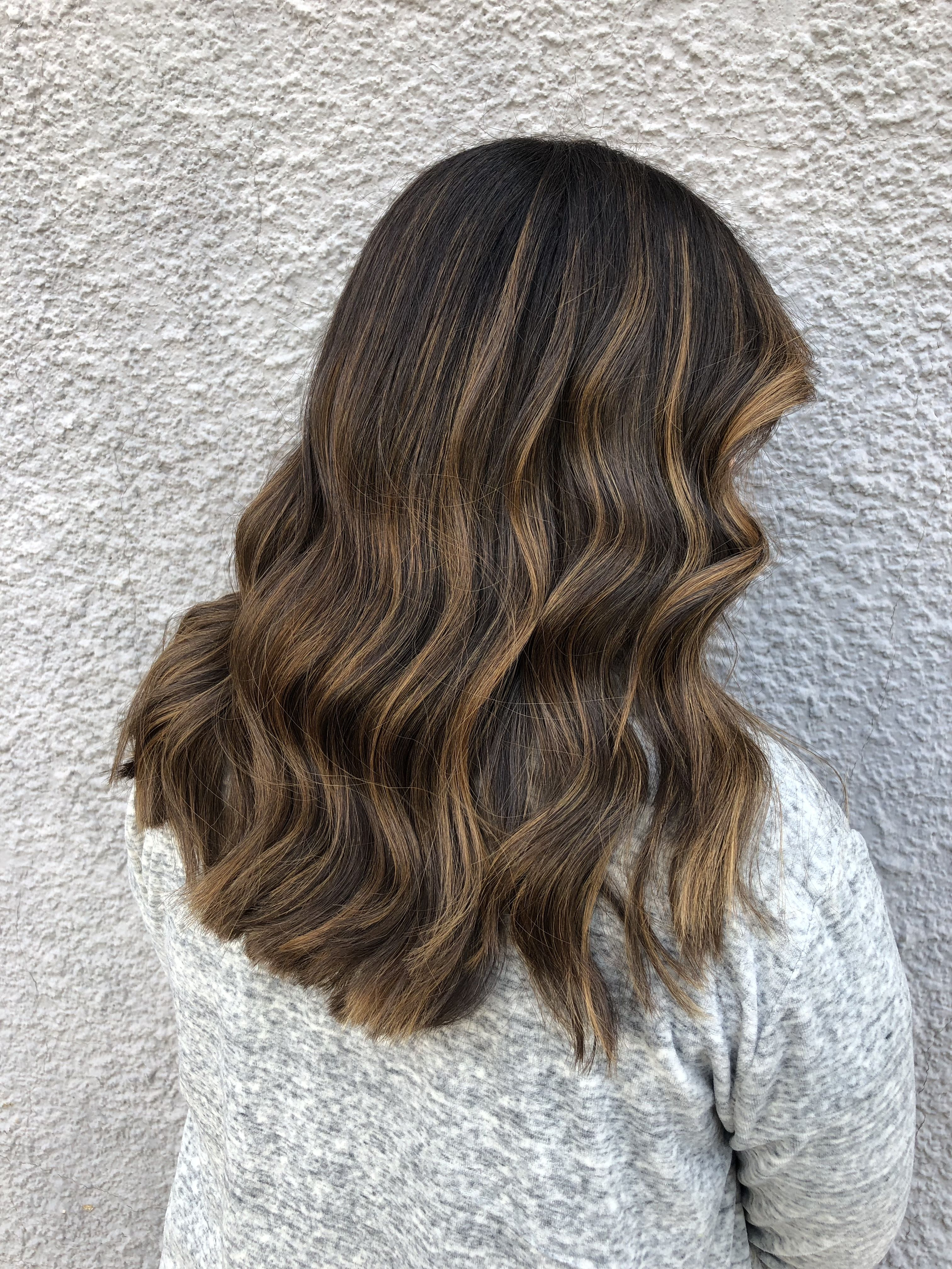 Current Curly Golden Brown Balayage Long Hairstyles In Hairstyles : Balayage For Curly Hair Super Best Golden Caramel (View 8 of 20)