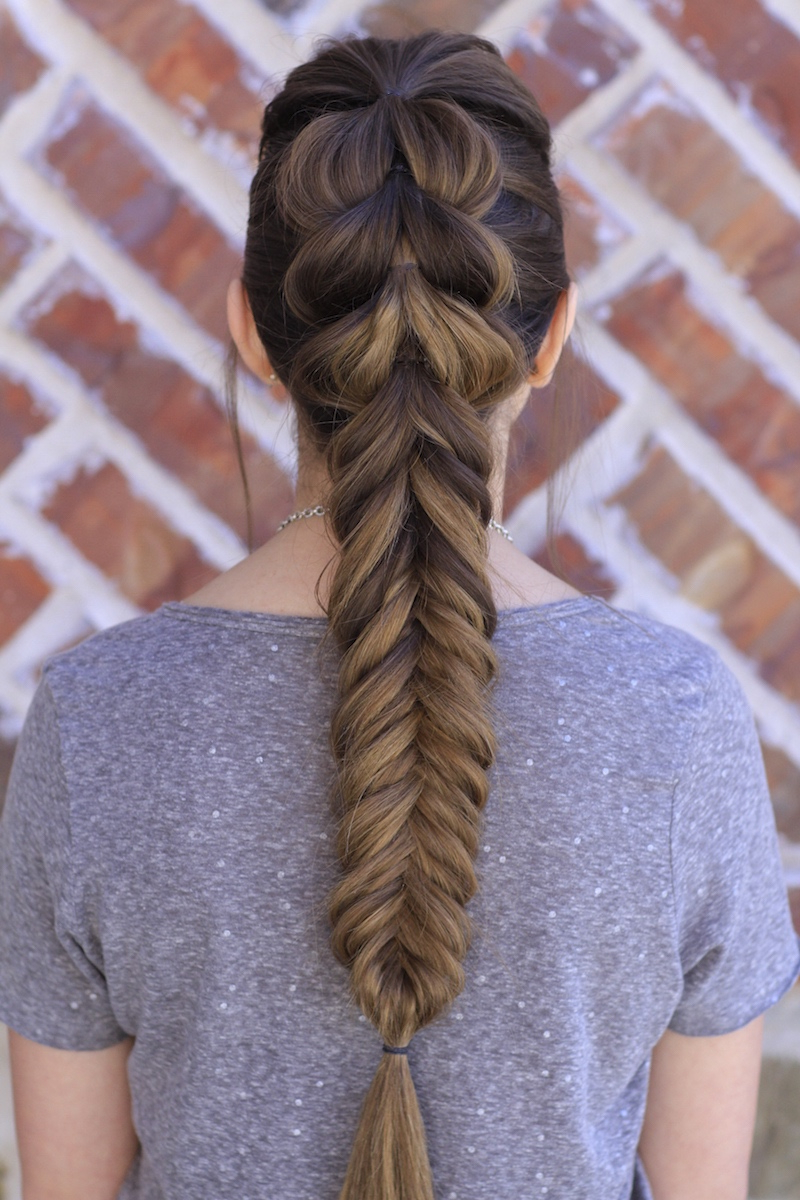 Current Double Fishtail Braids For Prom Throughout Pull Through Fishtail Braid Combo (View 14 of 20)