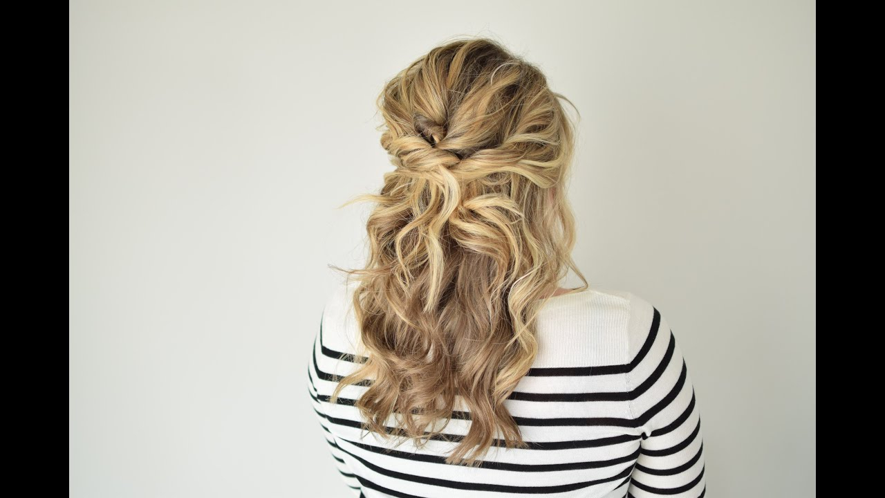 Current Double Twist And Curls To One Side Prom Hairstyles For The Twisted Half Up – Youtube (View 9 of 20)