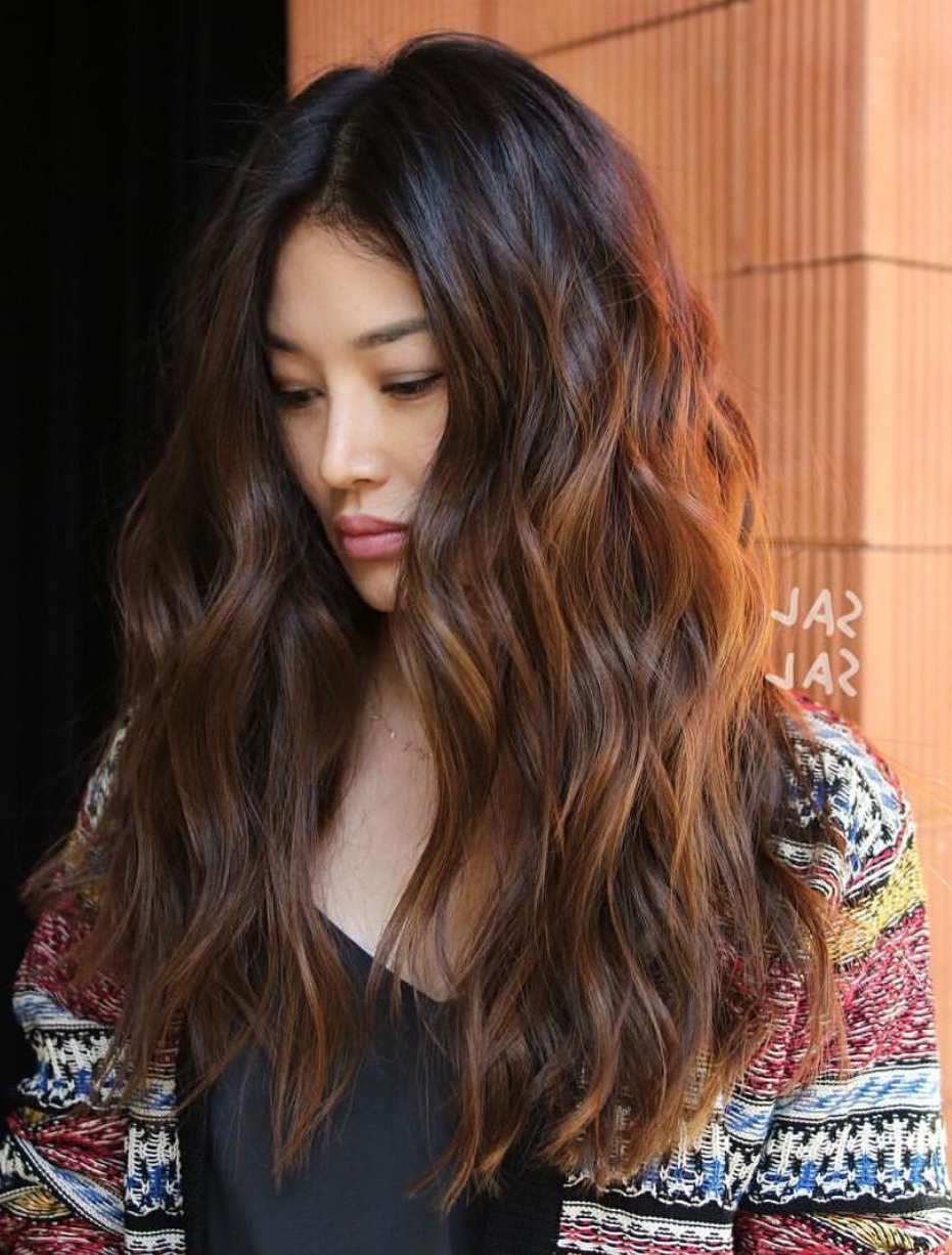 Current Long Voluminous Ombre Hairstyles With Layers Pertaining To Gorgeous Voluminous Hair With Curls And Texture #curls #messy (Gallery 5 of 20)