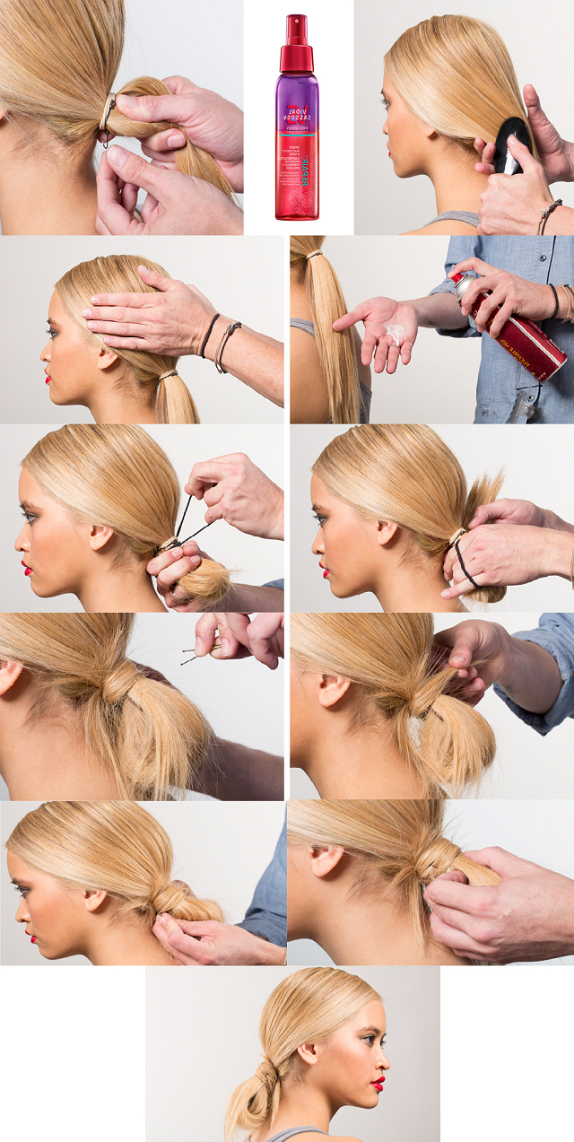 Current Looped Low Bun Hairstyles Throughout How To Make A Cute And Messy Loop Bun (View 2 of 20)