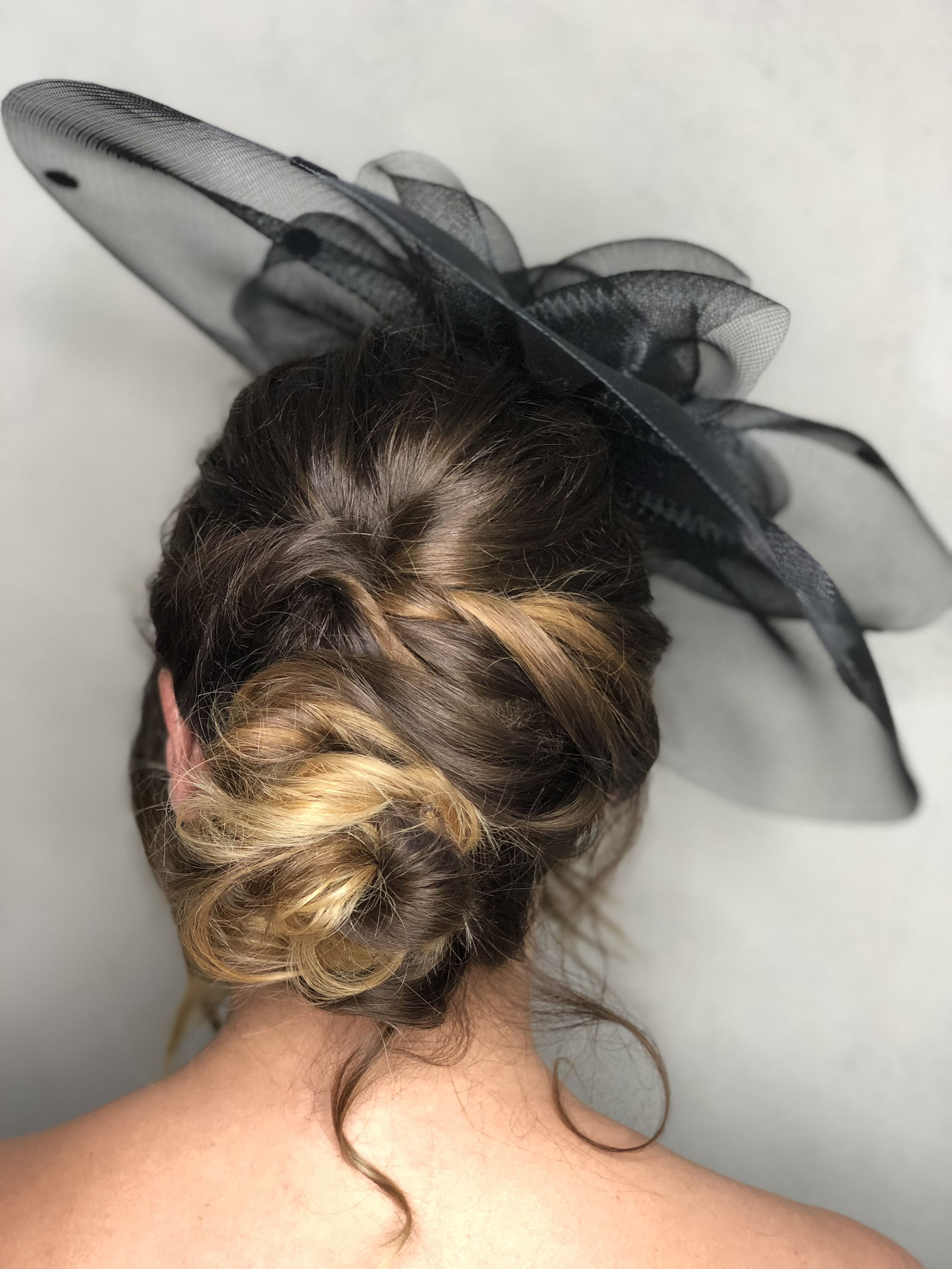 Current Side Bun Prom Hairstyles With Black Feathers For Boho Hair Up. Low Side Bun. Textured Up Do. Hairme (View 9 of 20)
