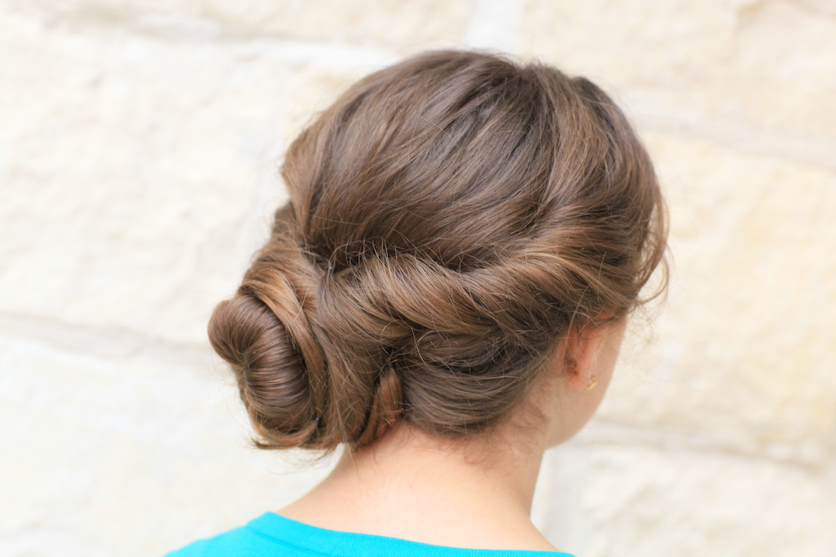 Featured Photo of Twisted And Curled Low Prom Updos