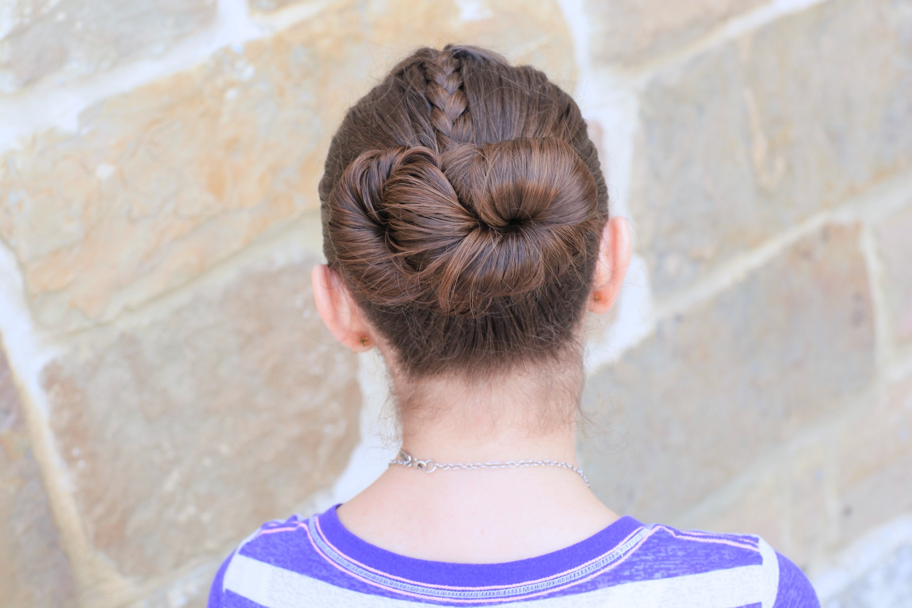 Cute Girls Hairstyles Regarding Most Current Accent Braid Prom Updos (View 16 of 20)