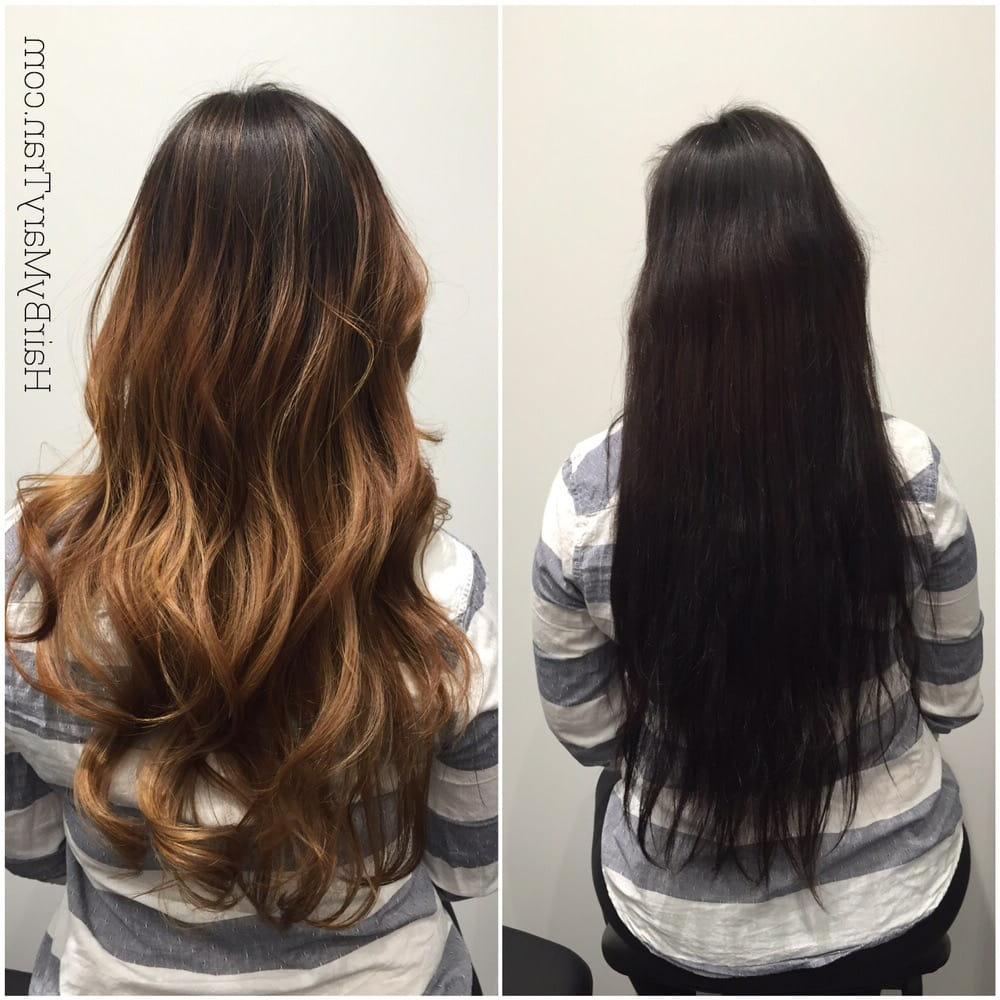 Dark Asian Hair Perviously Colored To Lighter Balayage Ombre And With Regard To 2019 Balayage Hairstyles For Long Layers (View 14 of 20)