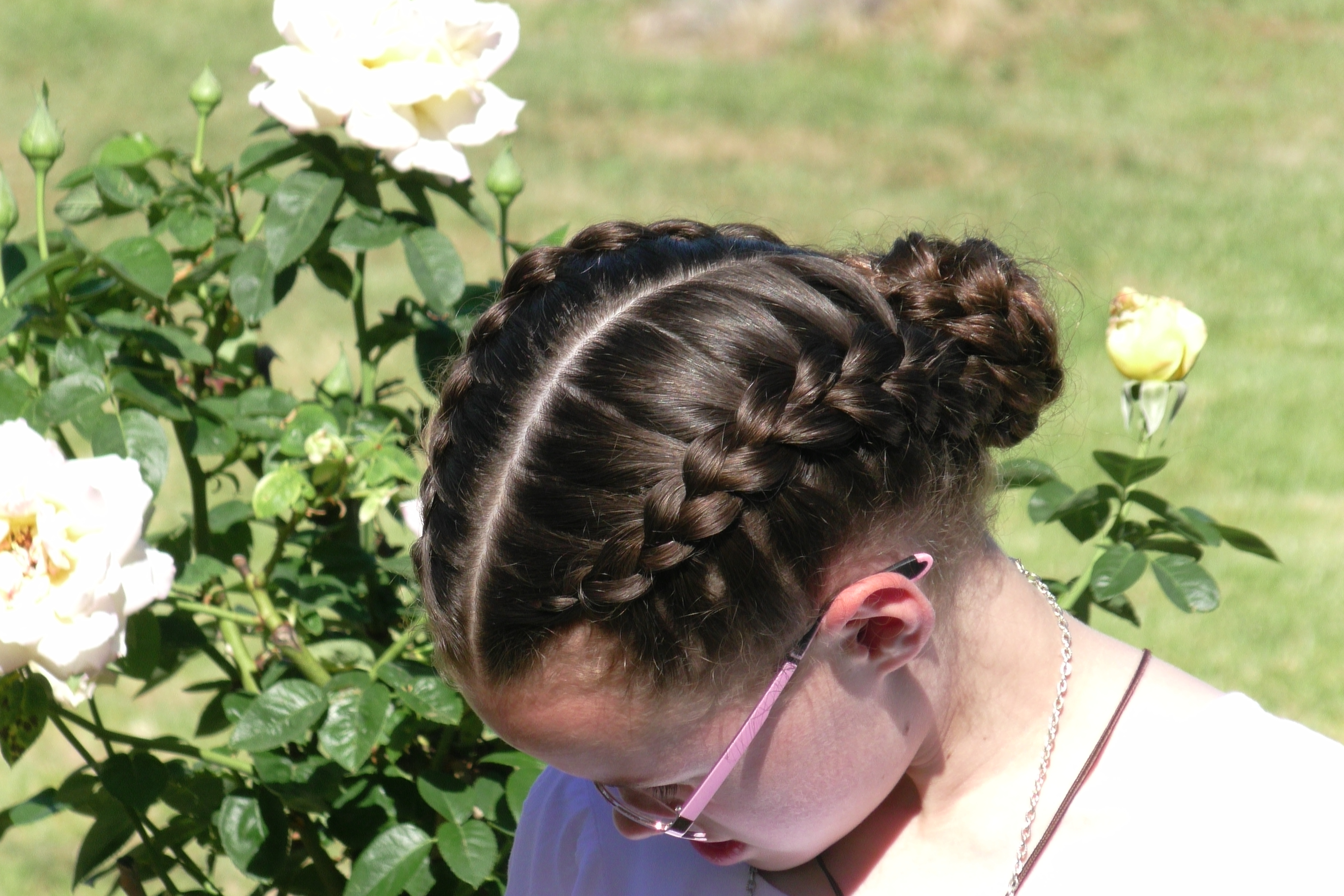 Double Dutch Braided Updo – Seton Girls' Hairstyles For Most Recently Released Double Crown Braid Prom Hairstyles (Gallery 19 of 20)