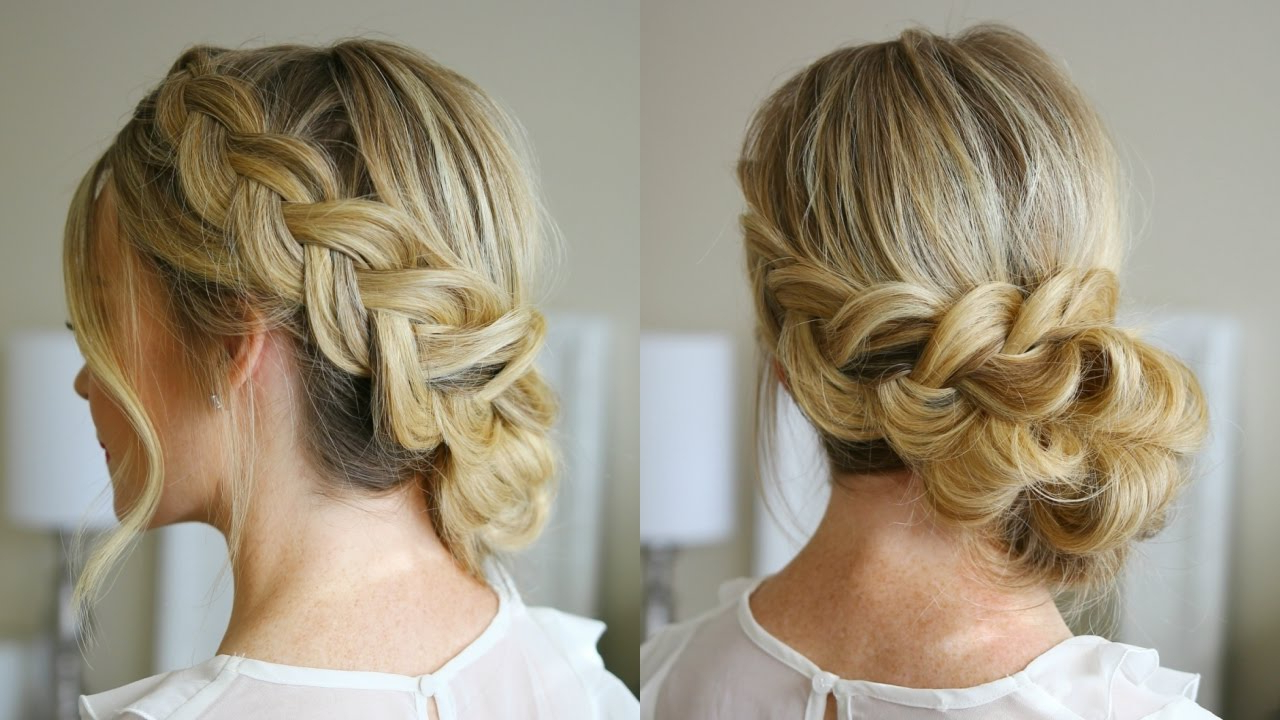 Dutch Braid Holiday Updo (Gallery 1 of 20)