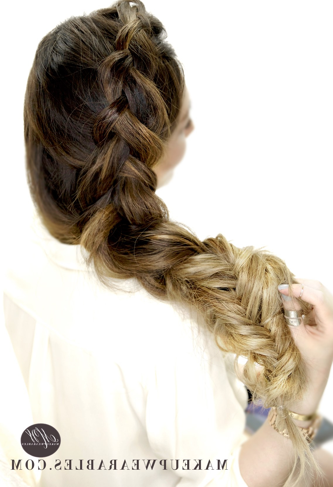 Dutch Into Fishtail Braids (Gallery 9 of 20)
