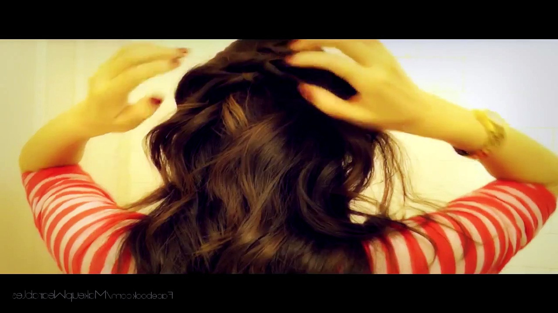 ☆7 School Hairstyles For Medium Long Hair Tutorial Curly Half Up Within Favorite Curly Half Updo With Ponytail Braids (View 2 of 20)