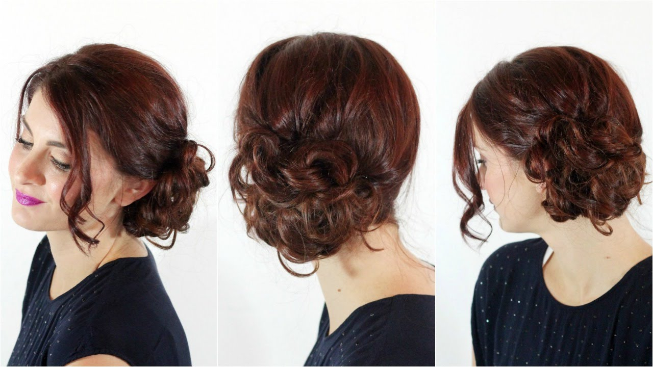 Easiest Messy Side Bun – Youtube In Widely Used Spirals Side Bun Prom Hairstyles (View 5 of 20)