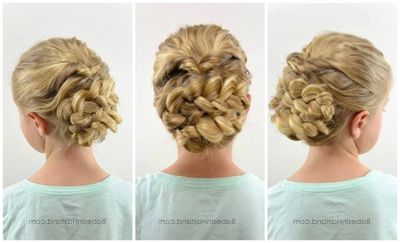 Easy Romantic Braided Updo – Babes In Hairland For Most Recent Romantic Prom Updos With Braids (View 7 of 20)