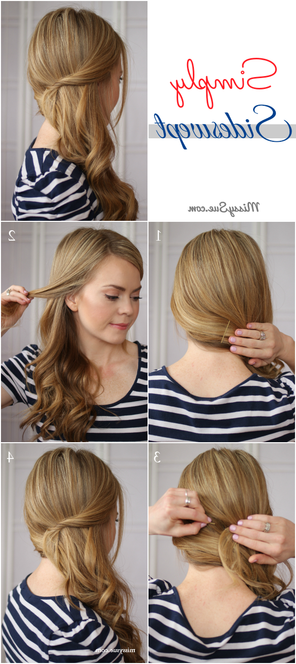 Featured Photo of Side Swept Brunette Waves Hairstyles For Prom