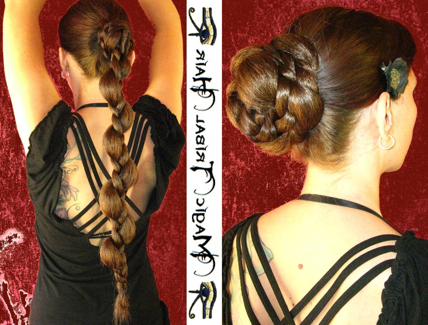 Etsy Intended For Well Liked Fishtailed Snail Bun Prom Hairstyles (View 9 of 20)