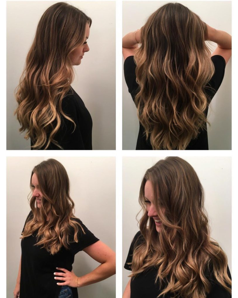 Famous Balayage Hairstyles For Long Layers Pertaining To Women's Wavy Waterfall Layers With Soft Brown Balayage Long Hairstyle (Gallery 2 of 20)