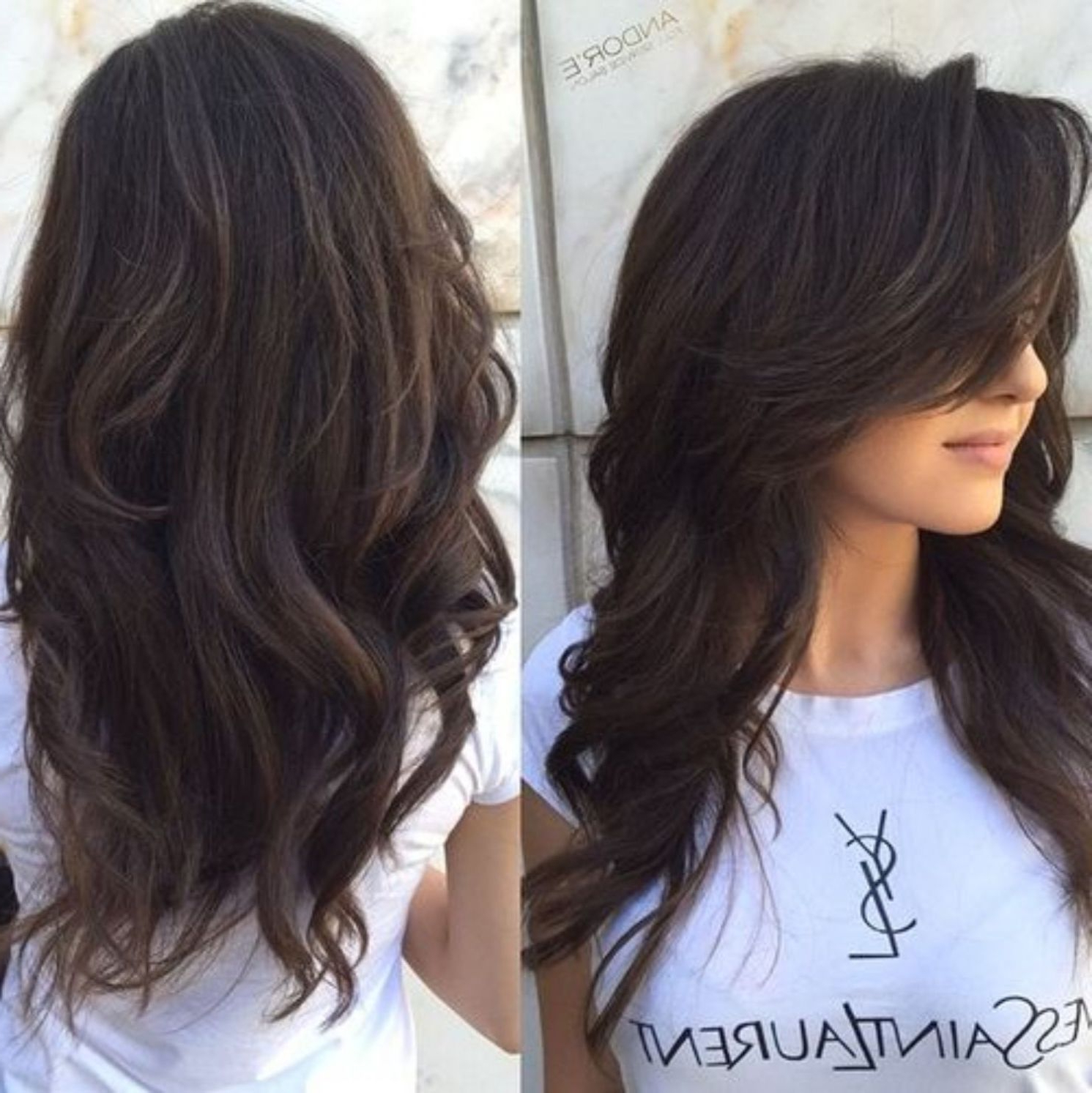 Famous Messy Loose Curls Long Hairstyles With Voluminous Bangs Intended For 80 Cute Layered Hairstyles And Cuts For Long Hair In (View 2 of 20)