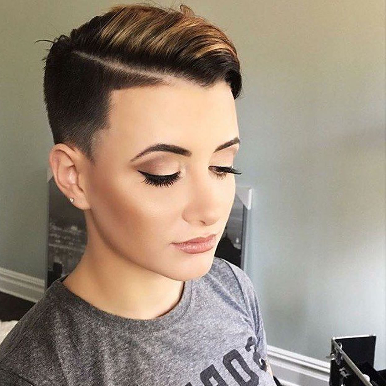Famous Shaved Side Prom Hairstyles With Regard To Short Hairstyles Shaved Side Images (View 5 of 20)