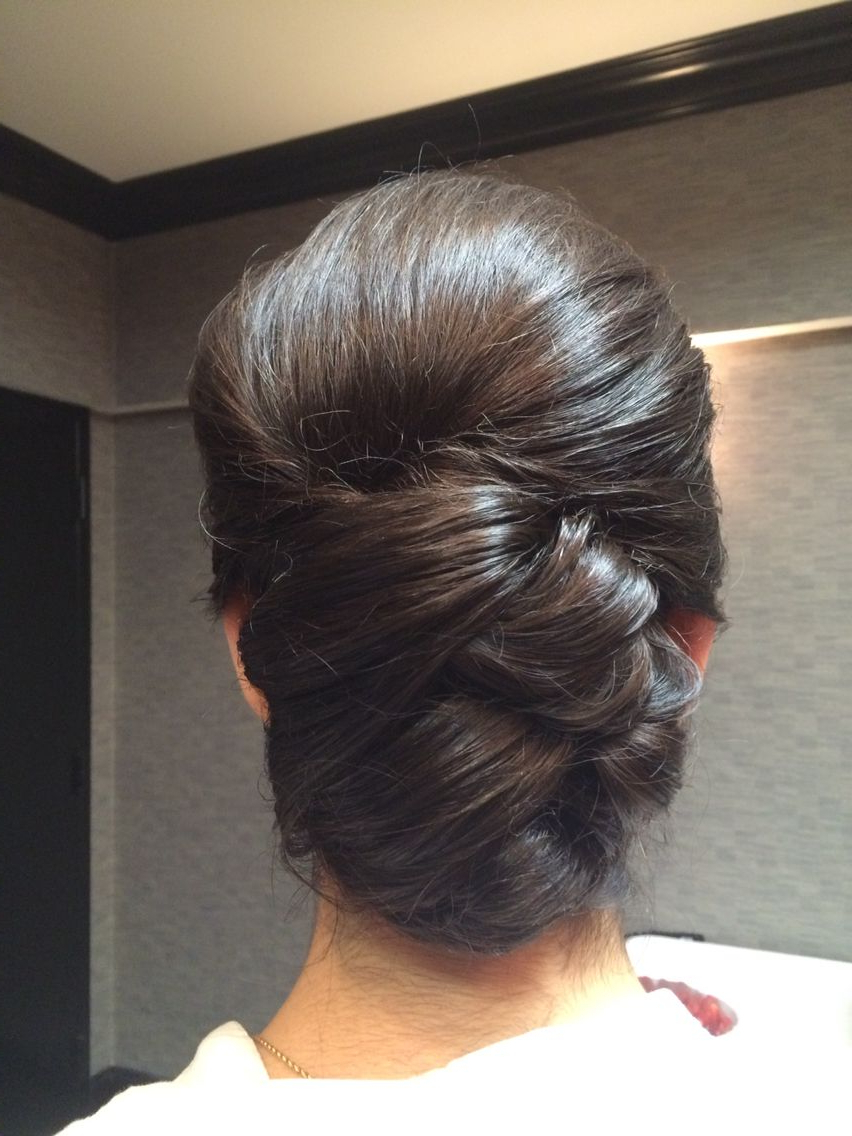 Famous Volumized Low Chignon Prom Hairstyles With Regard To Sleek, Elegant Bridal Updo. Bun With Volume (Gallery 10 of 20)