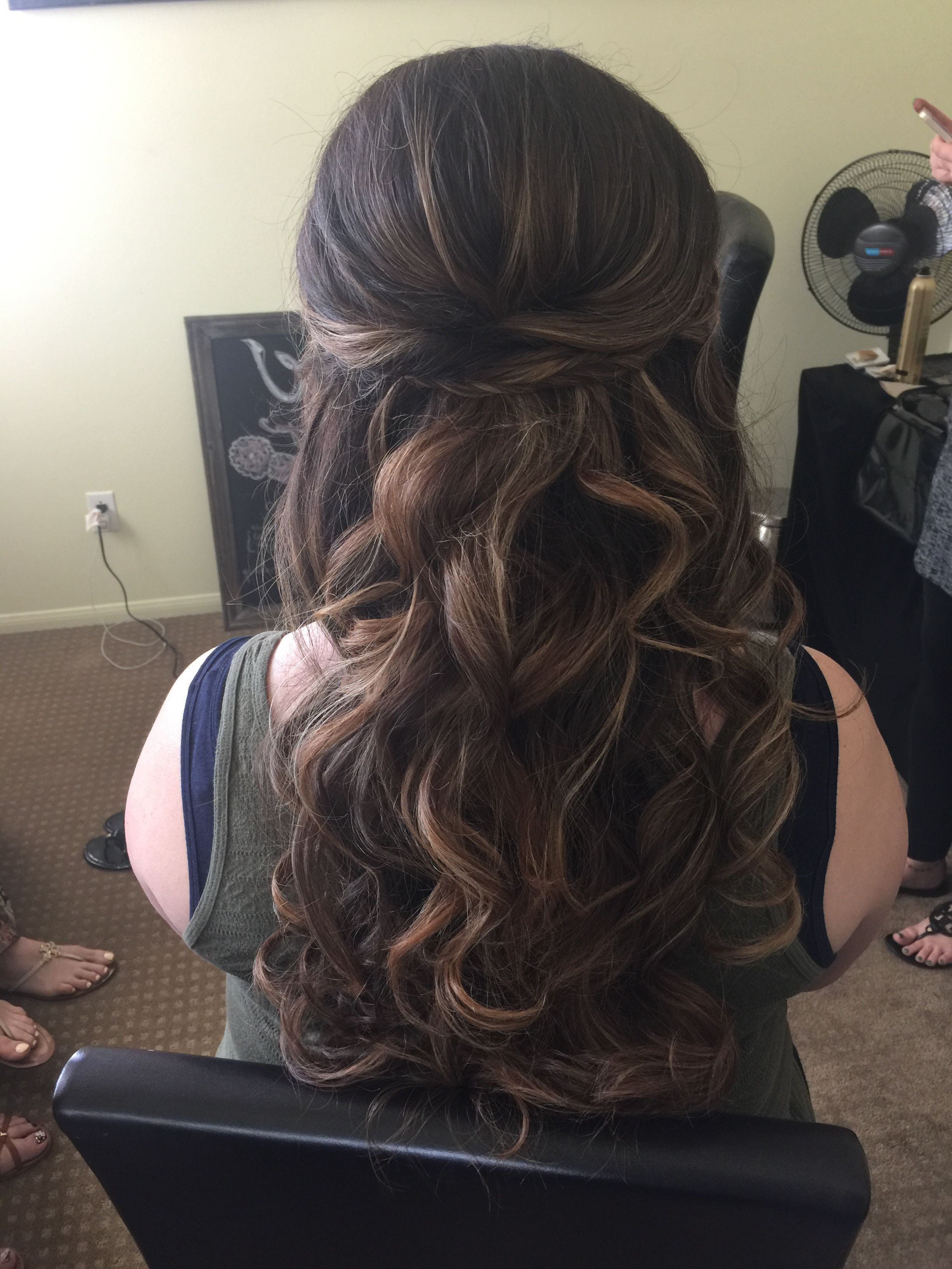 Fashion : Hairstyle Half Up Half Down Curly Enchanting Prom Pertaining To Trendy Elegant Curled Prom Hairstyles (Gallery 18 of 20)
