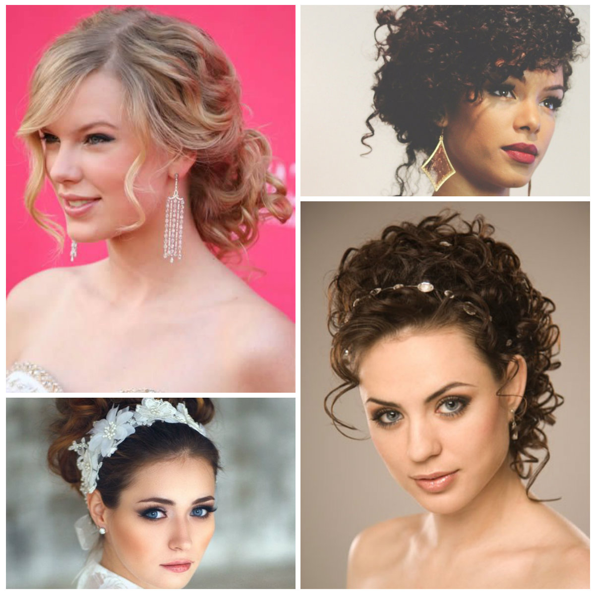 Fashionable Big Curly Bun Prom Updos With 25 Simple And Stunning Updo Hairstyles For Curly Hair – Haircuts (Gallery 20 of 20)