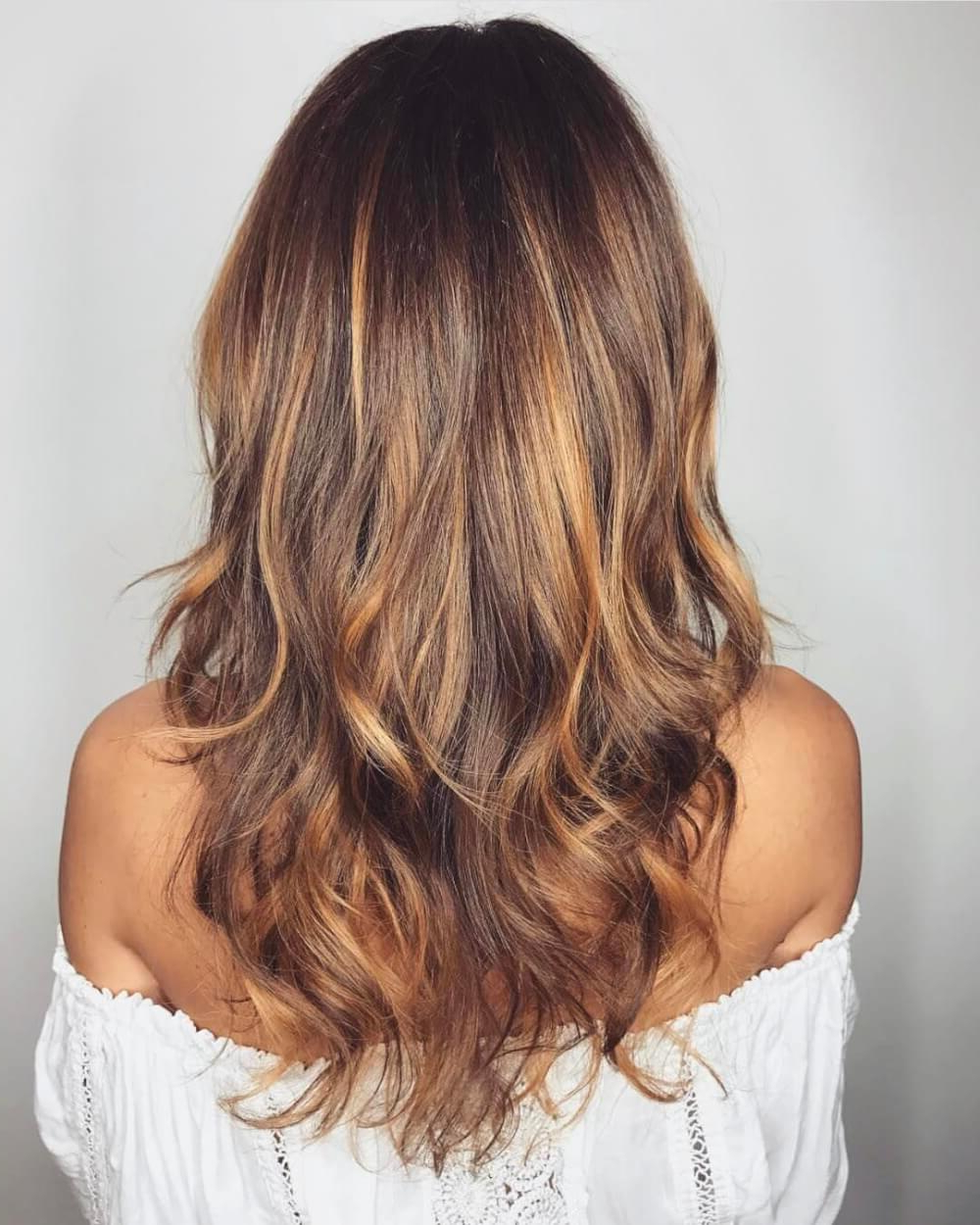 Fashionable Curly Golden Brown Balayage Long Hairstyles Intended For 36 Light Brown Hair Colors That Are Blowing Up In  (View 12 of 20)