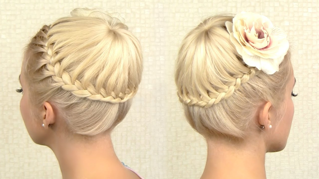 Fashionable Floral Braid Crowns Hairstyles For Prom Regarding Crown Braid Tutorial Prom Updo Hairstyle For Medium Long Hair (Gallery 13 of 20)