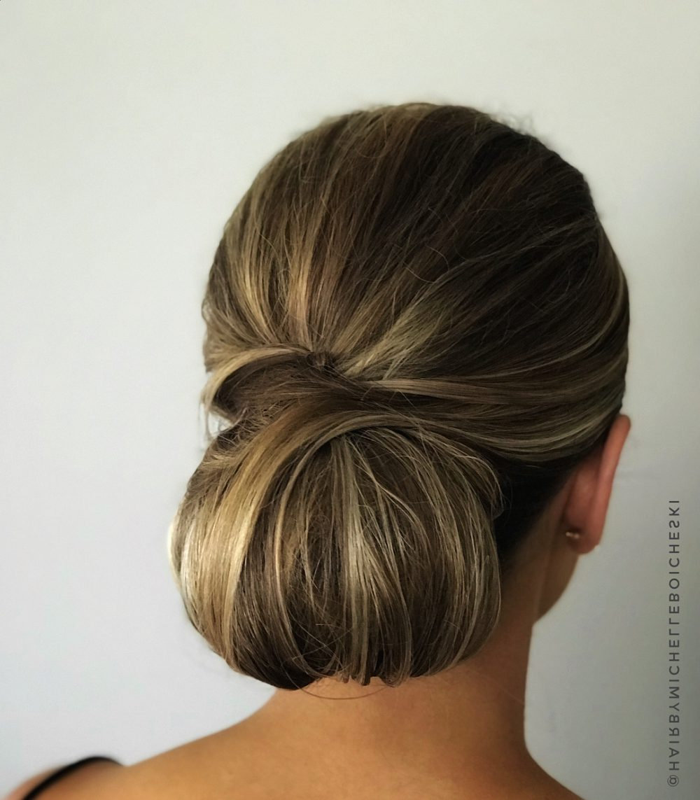 Fashionable Looped Low Bun Hairstyles Throughout 34 Cutest Prom Updos For 2019 – Easy Updo Hairstyles (View 12 of 20)