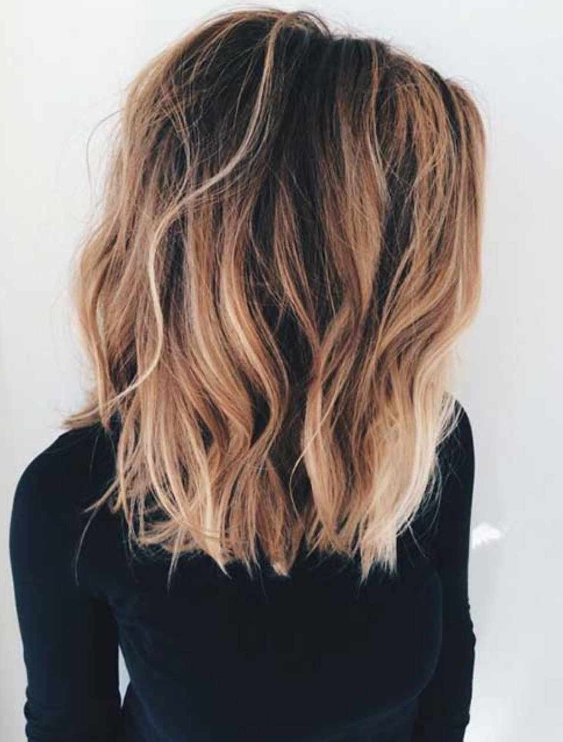 Favorite Brown Blonde Hair With Long Layers Hairstyles In Long Bob With Long Layers– Dark Brown Roots With Caramel And Blonde (View 11 of 20)