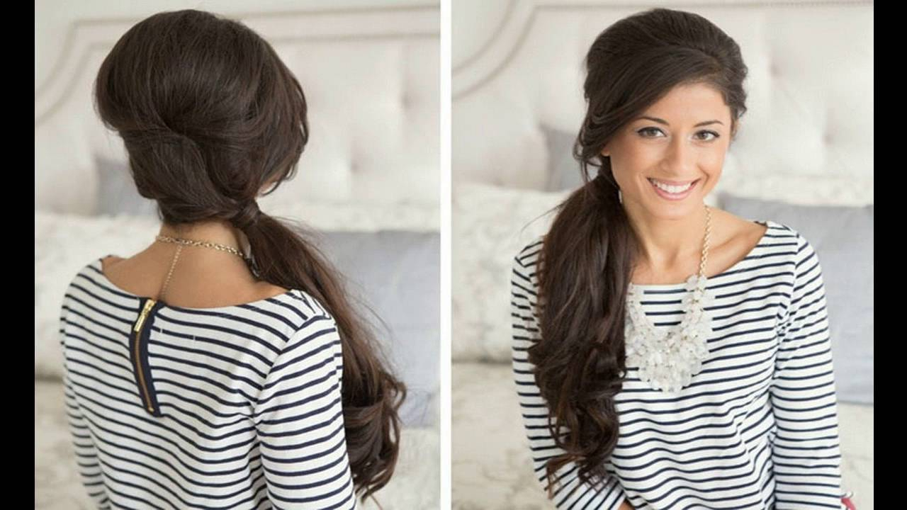 Favorite Low Curly Side Ponytail Hairstyles For Prom Inside Curly Side Ponytail Gives Fabulous Look For Medium Hair – Youtube (View 15 of 20)