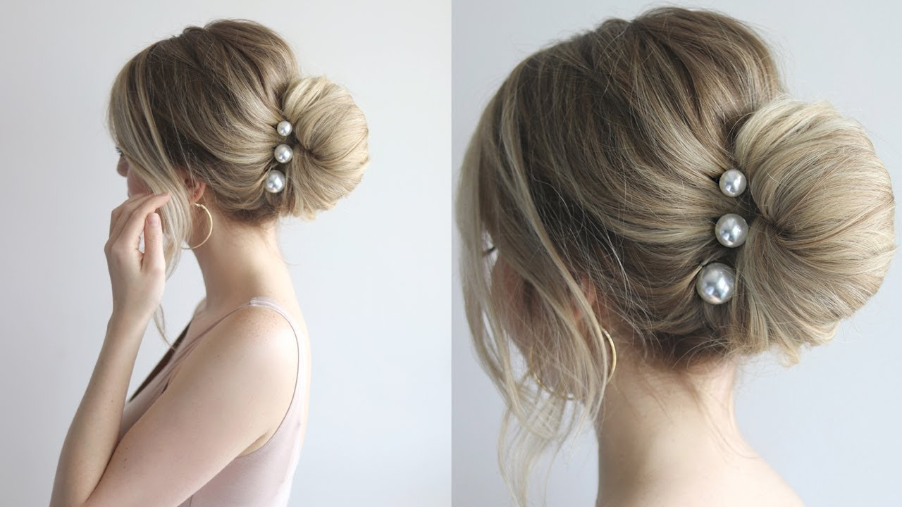 Favorite Low Pearled Prom Updos Intended For How To: Simple Bun (View 17 of 20)