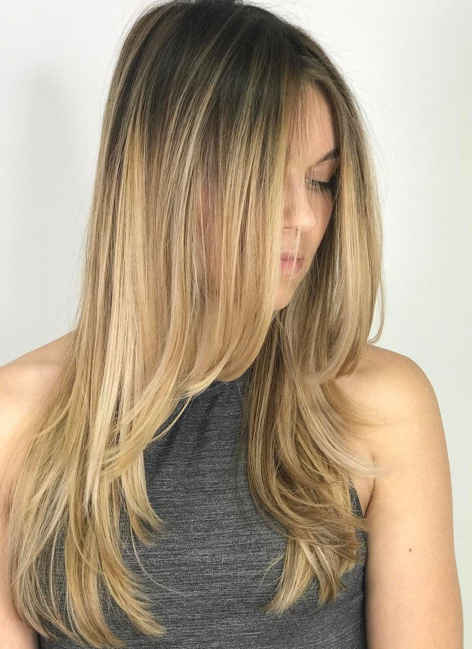 20 Photo Of Descending Face Framing Layers For Long Hairstyles