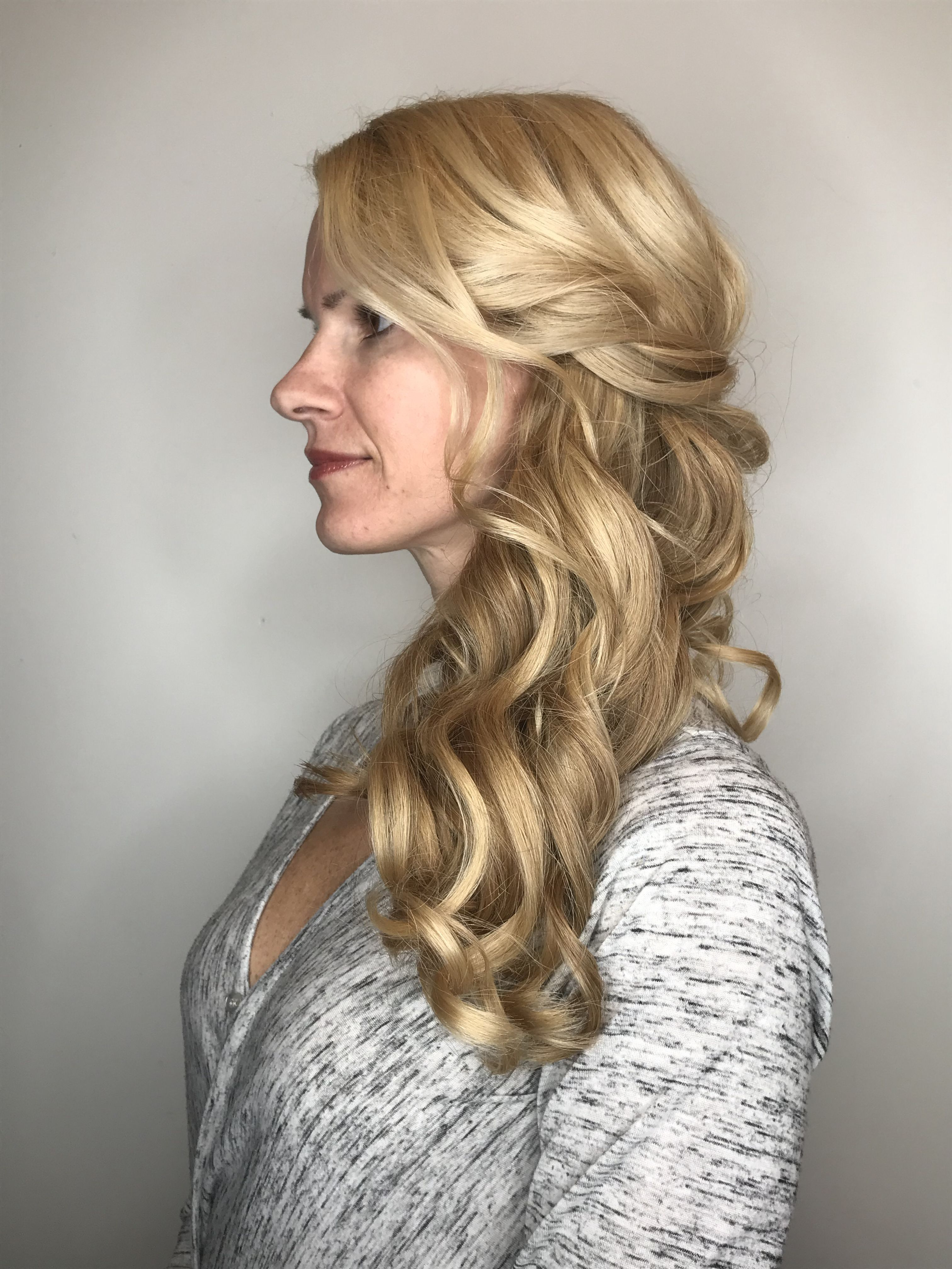 Hair In A Side Swept Curls Up Do For A Wedding (View 8 of 20)