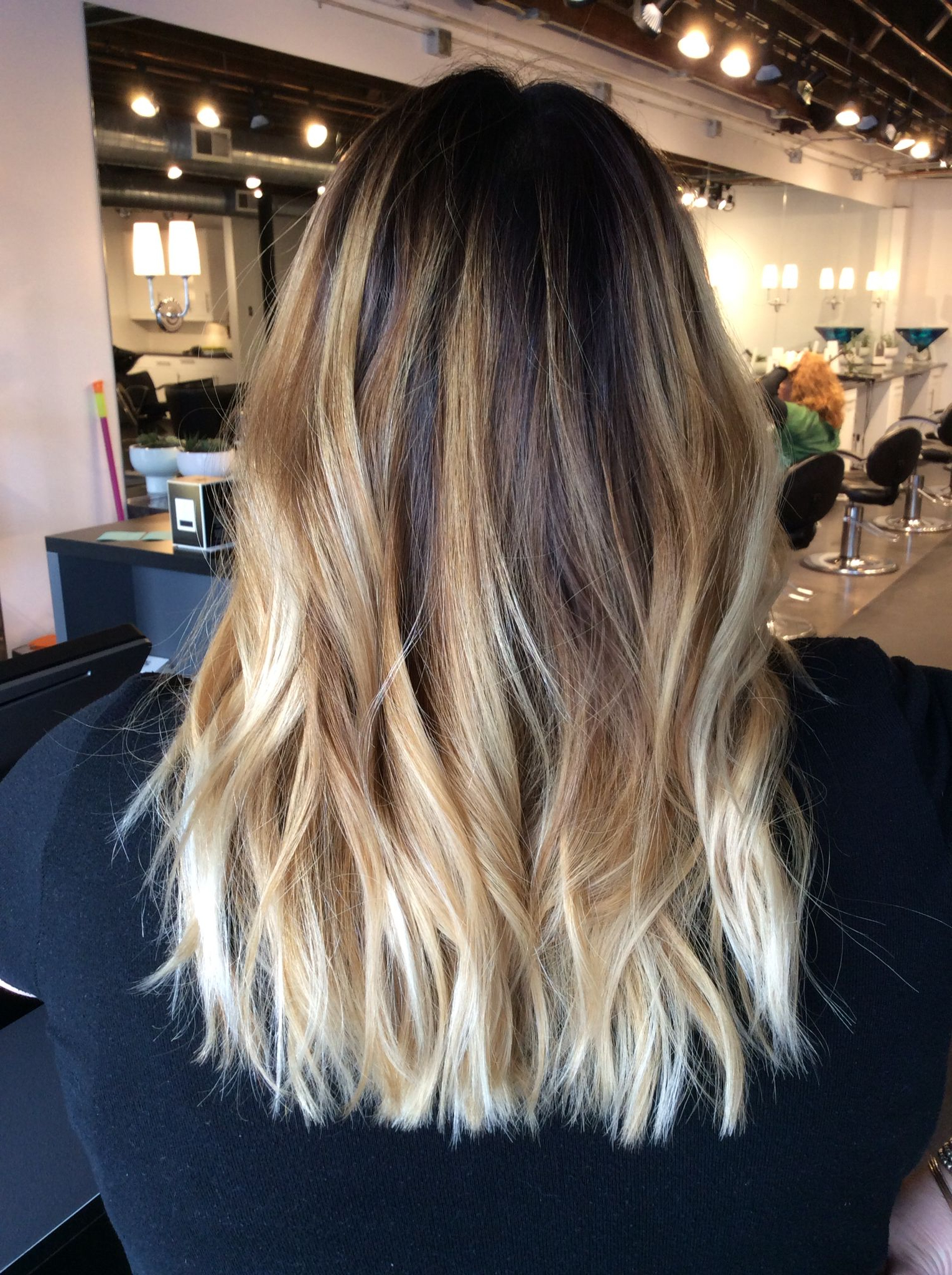 Hair Pertaining To Popular Long Thick Black Hairstyles With Light Brown Balayage (Gallery 10 of 20)