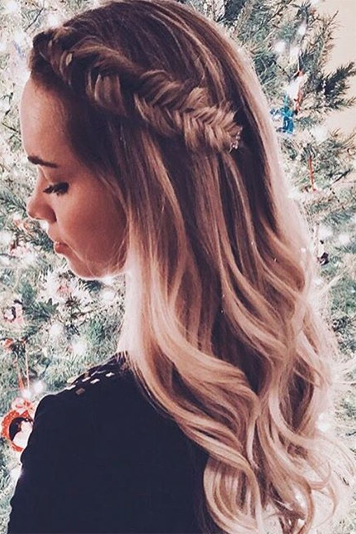 Hair Styles, Long Hair With Trendy Cascading Waves Prom Hairstyles For Long Hair (View 11 of 20)
