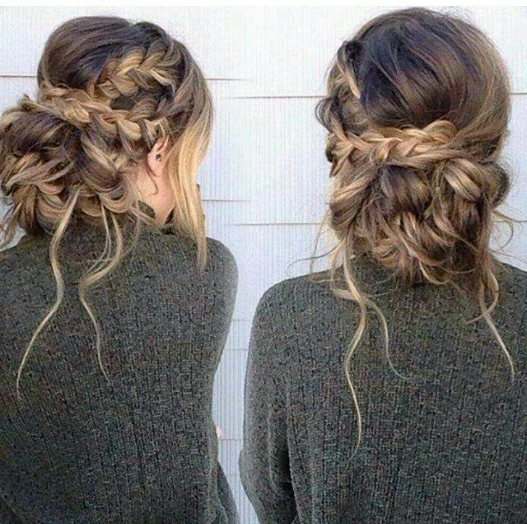 Hair Styles, Prom With 2018 Messy Braided Prom Updos (Gallery 20 of 20)