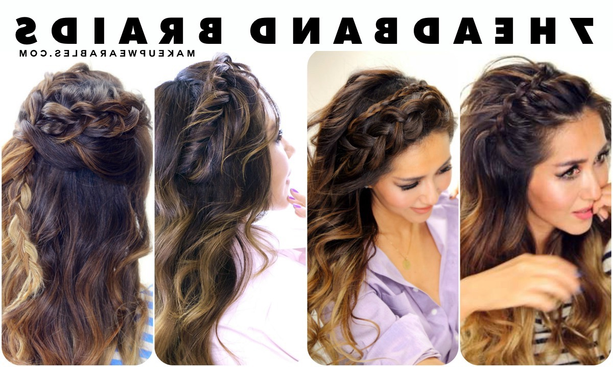 Hair Tutorial Within Latest Half Prom Updos With Bangs And Braided Headband (View 11 of 20)