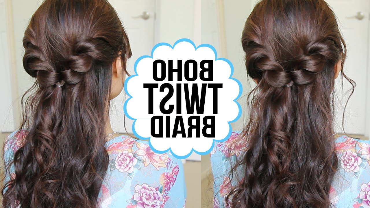 Hair Tutorial – Youtube Inside Latest Twisting Braided Prom Updos (View 11 of 20)
