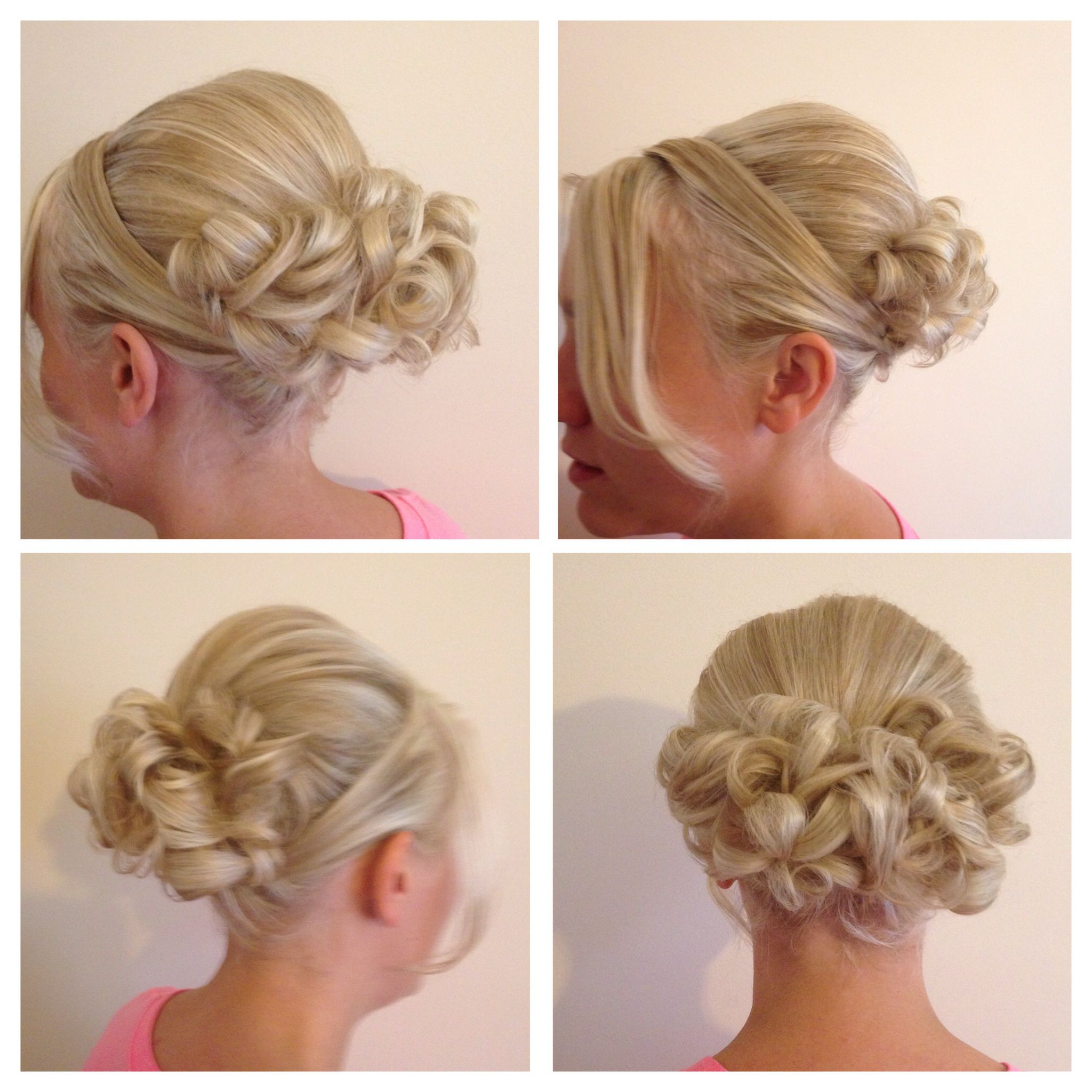 Hair Up Boof With Curls Pinned Up At The Back,sides Swept Round And Intended For Recent Pinned Up Curls Side Swept Hairstyles (View 12 of 20)
